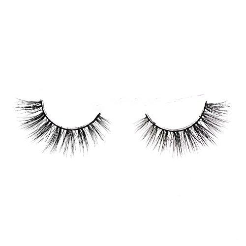 Lunamoon 3D Mink False Eyelashes Siberian Mink Fur Long Thick Hand-made Reusable Eyelashes Natural Look for Women's Makeup 1 Pair Pack (Kylie)