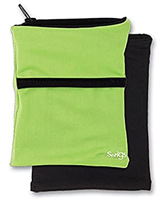Sprigs Fleece Banjees Wrist Wallet,One Size,Lime/Black