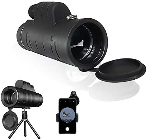 12X50 Monocular Telescope - Waterproof Monocular with Smartphone Holder & Tripod, Made by Hyper FMC BAK4 Prism & Eco-Friendly Materials for Wildlife Bird Watching Camping Travelling