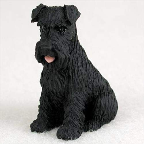 Conversation Concepts Schnauzer Black W/Uncropped Ears Tiny One Figurine ()