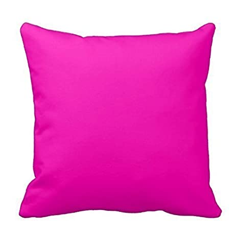 Amazon.com: Neón rosa decorativo Algodón Cuadrado Color ...