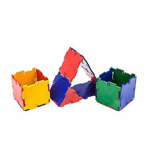 hand2mind Polydron Geometry Shapes (Set of 92 pieces in 4 shapes)