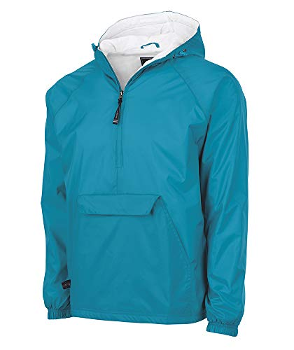 Charles River Apparel Wind & Water-Resistant Pullover Rain Jacket (Reg/Ext Sizes), Marine Blue, 3XL