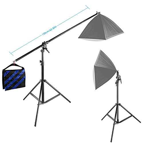 Neewer® 10ft/3M Two Way Rotatable Tripod Boom Light Stand with Sandbag for Photo Photography Video Studio by Neewer