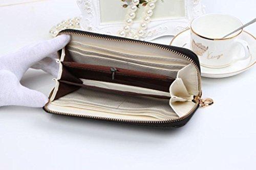 BeautyLife�?Le donne Cute bowknot borsa solida borsa Portafoglio Wearable, Nero