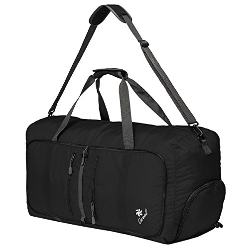 Coreal 80L Foldable Travel Camping Duffel Luggage Bag with Shoe Compartment 41242aaf28273