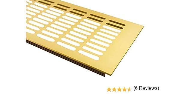 Plata anodizado//–/F1 /Rejilla de ventilaci/ón de aluminio 100/mm x 300/mm en diferentes colores MS herrajes/