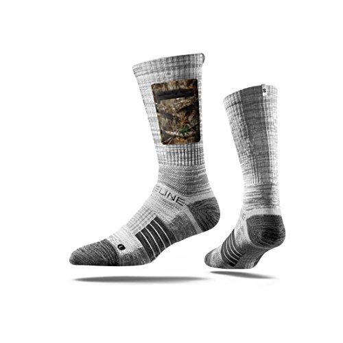 Strideline Realtree Premium Hunting Pocket Crew Socks, Edge Grey with Camo
