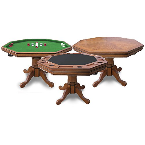 (Hathaway Kingston Oak 3-in-1 Poker Table)