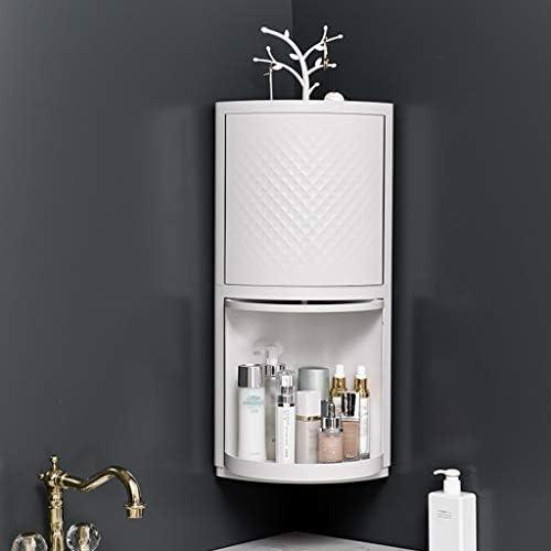 化粧品収納ボックス 回転式化粧品収納ボックスバスルームバスルームシェルフジュエリーホルダー360度回転吊り下げサイズホワイト GHMOZ (Size : M)
