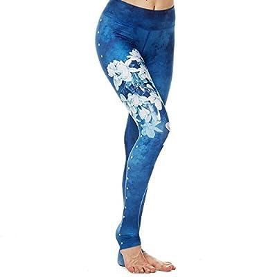 Binbinzhou Séchage rapide, femme Pantalon élastique Fitness Sport en fleur de Magnolia, l'exécution de la fonction d'affleurement de Yoga