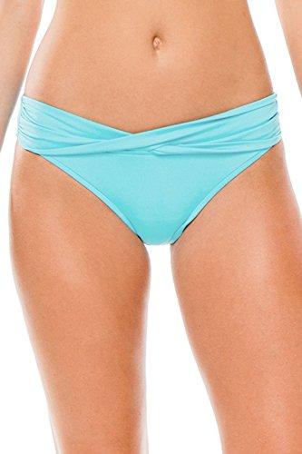 Seafolly Women's Twist Band Hipster Full Coverage Bikini Bottom Swimsuit, Iceberg, 12 US ()