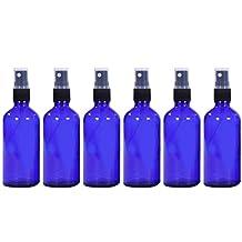 Elisona-6 PCS 1.66oz/50ml Portable Travel Glass Fine Mist Spray Bottle Container Travel Perfume Essential Oils Containers Sprayer Blue