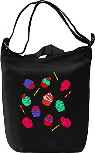 Colourful Cupcakes Borsa Giornaliera Canvas Canvas Day Bag  100% Premium Cotton Canvas  DTG Printing 