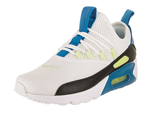 Nike Women's Air Max 90 EZ White/Black/Blue Nebula Running Shoe 6 Women ()