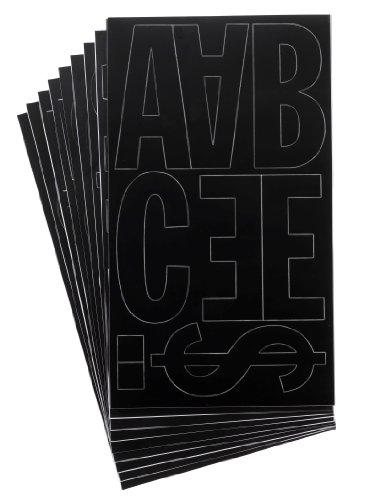 (Westcott LetterCraft Permanent Vinyl Lettering Franklin Gothic 4-Inch, Black (15854))