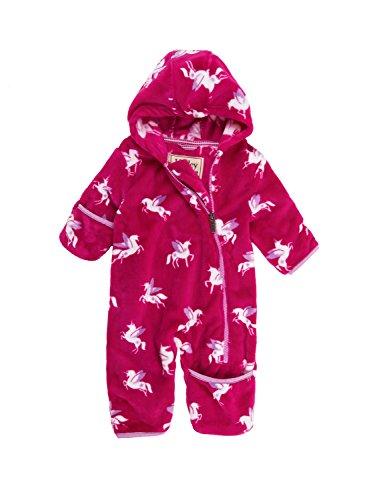 Hatley Girls Fuzzy Fleece Baby Bundlers, Winged Unicorns, 12M-18M (Unicorns Winged)