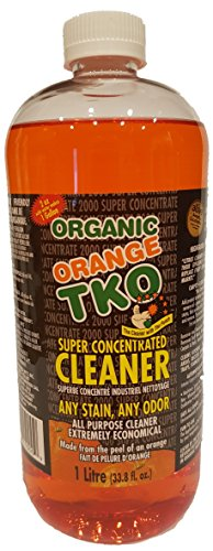 Organic Orange TKO Super Concentrated 34oz All Purpose Citrus Cleaner, Degreaser, Deodorizer, Stain Remover, Pet Safe, Non Toxic, Eco Friendly