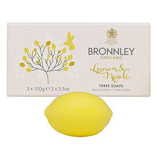 Bronnley Soap Lemon - Bronnley Lemon & Neroli Soaps 3 x 100g (PACK OF 4)