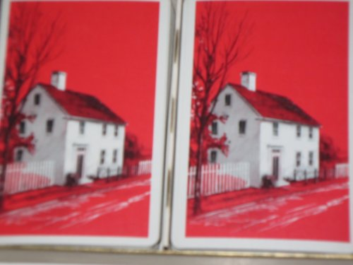 Vintage Playing Cards -- Hamilton Canasta -- Early American Home Scene -- 2 (Early Vintage Scene)