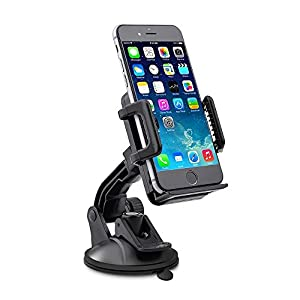 TaoTronics Phone Holder for Cars, Windshield Dashboard Universal Car Mobile Phone Cradle, Compatible with iPhone X 8 Plus 7 Plus, Galaxy S8 Plus S7 Plus Note 8 and All Smartphones