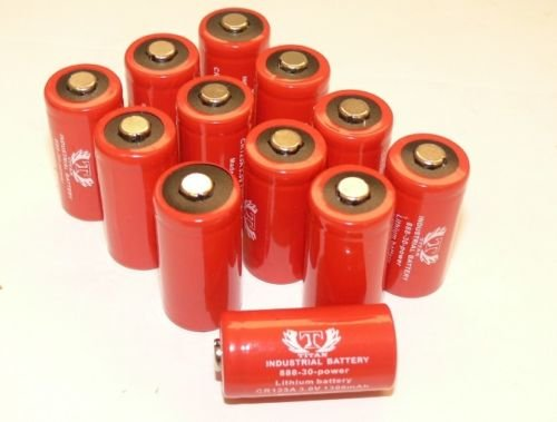 Titan Industrial 123A CR123A 3 Volt Lithium Batteries (12 Pack) by Banshee