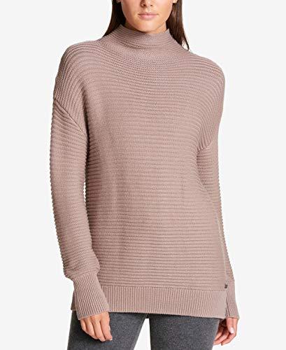 DKNY Sport Women's Small Mock-Neck Ribbed Sweater Gray S