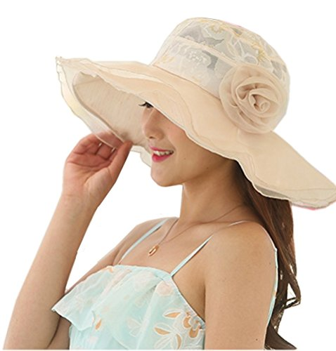 Nanxson(TM Flower Garden Tea Party Holiday Fishing Beach Cap Summer Sun Hat Wide Brim Women MZW0100 -