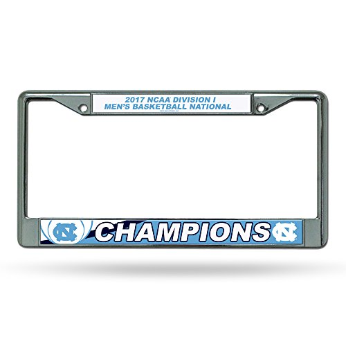 NCAA North Carolina Tar Heels 2017 Men's National Basketball Champions Chrome Plate Frame, Carolina Blue, White, 12-inch by (Frame Ncaa Mens Basketball)