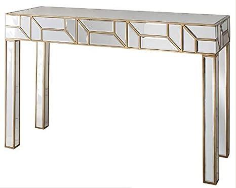 Impresionante veneciano espejo consola mesa grande moderno muebles de dormitorio sala de estar lado rectangular moderno biselado cristal pasillo salón vestir dorado Vintage Shabby Chic acabado pantalla unidad * * * * *