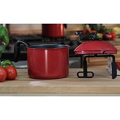Mac Magic 4-qt. Pasta Pot Steel Stainless Lid Strainer Quart Stock Qt Steamer