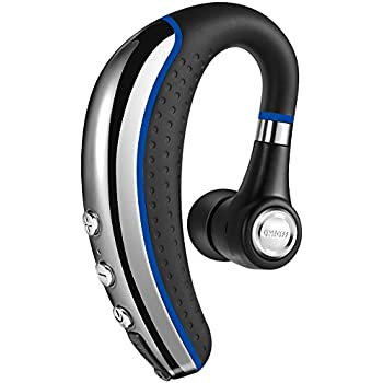 (New) B-Rainbow A8 Bluetooth Headset V4.1, Ultralight Wireless Earpiece Noise Cancelling Sweatproof Earphone for iphone and Android Cell Phones.