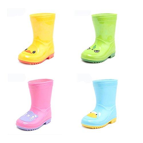 Colorful Kid de pluie cothurne Bottes Chaussures Imperméable Bottes, dinosaure vert