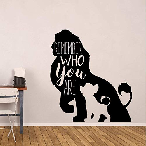 Simba Wall Decor | The Lion King Decor | Gift for Son, Daughter, Grandchild | Remember Who You Are | Vinyl Decoration for Baby Nursery, Bedroom, Classroom, Playroom | Small and Large Sizes ()
