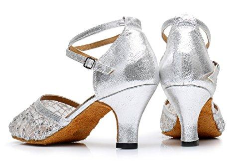 TDA - Sandalias con cuña mujer plata