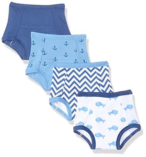 Hudson - Pantalones de Entrenamiento de algodón para bebé, 4 Unidades, Whales, 2 Años