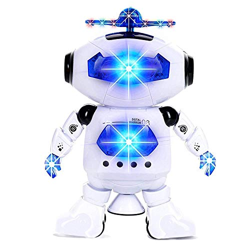 NEWTRENDING Electronic Walking Dancing Robot Toys with Musical and Colorful Flashing Lights for Kids Boys Girls Toddlers]()