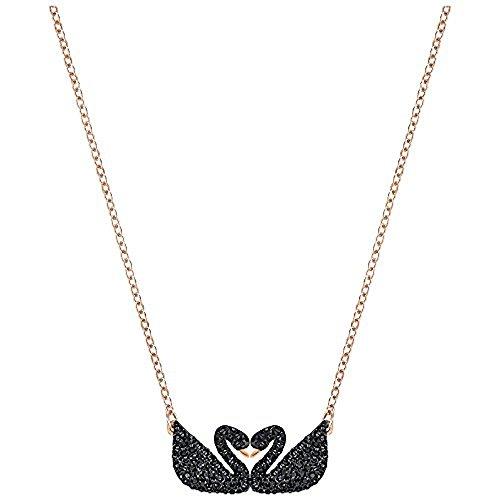 Swarovski Iconic Swan Double Necklace, Black 5296468 Length: 14 7/8 inches by Swarovski
