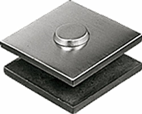 CRL Brushed Stainless Steel 2 in x 2 in Square Mall Front Glass Clamp