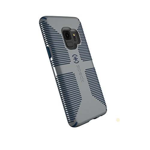 Speck Products Candyshell Grip Case for Samsung Galaxy S9, Gravel Grey/Deep Sea Blue from Speck