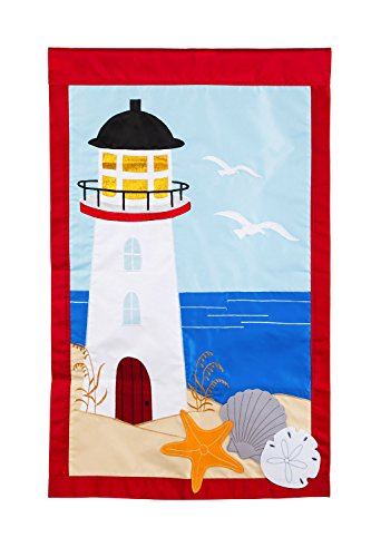 Evergreen Flag Lighthouse Applique House Flag, 28 x 44 (44 Decorative Flag)