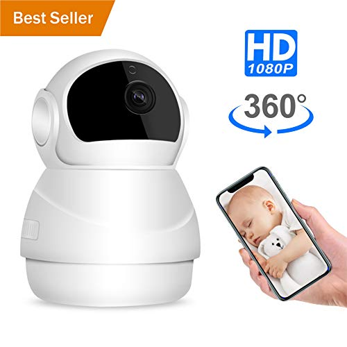 Pet Camera, Nanny Cam, Wireless IP Camera, WiFi 1080P HD Indoor Home Security Camera with Two Way Audio and Video, Night Vision Camera for Dog/Cat/Elder/Baby Monitor, Pan/Tilt/Zoom Function
