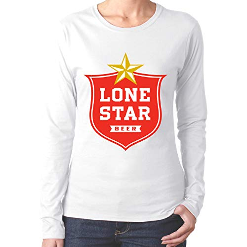 IoDSICYSB8Q Lone Star Beer- O-Neck Comfortable Long Sleeves for Womens and Girls White M ()