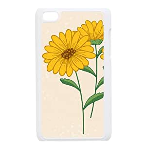 FLYBAI Painted Flower Phone Case For Ipod Touch 4 [Pattern-1]