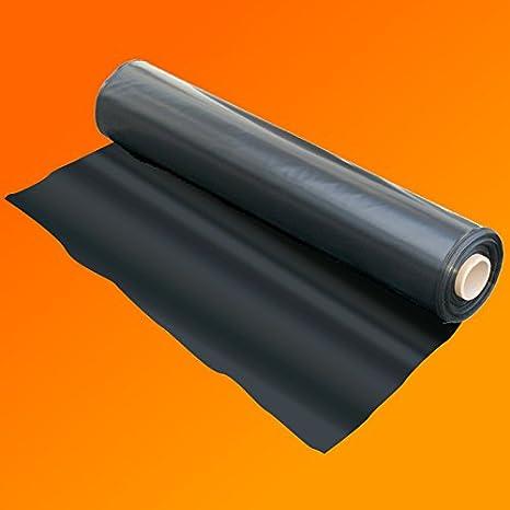 2M X 25M 250G BLACK HEAVY DUTY POLYTHENE PLASTIC SHEETING GARDEN DIY MATERIAL