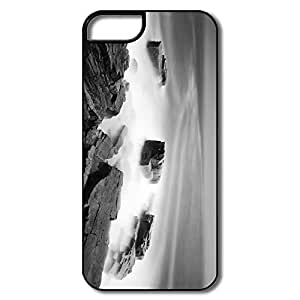 Design Your Own YY-ONE Silicone Black White Sea Mist IPhone 5/5s Case For Family