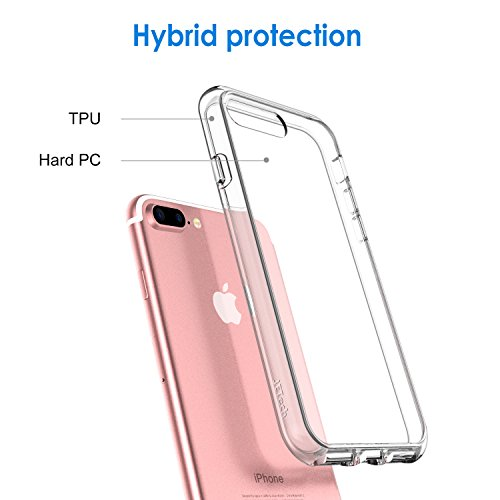 JETech Case Compatible with iPhone 8 Plus, Compatible with iPhone 7 Plus, 5.5-Inch, Shockproof Bumper Cover, Anti…