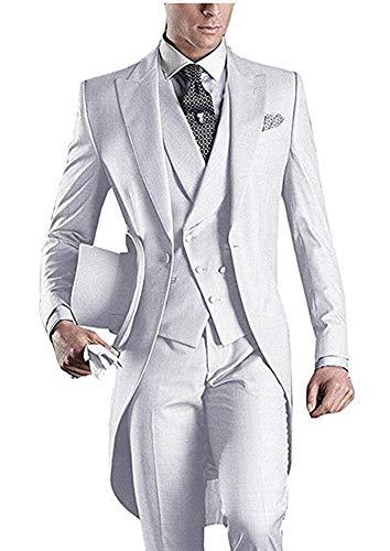 Men's Suit WH Long Notch Lapel Tailcoat Suit Wedding Suits Groom Tuxedos WH 40 chest/34 waist