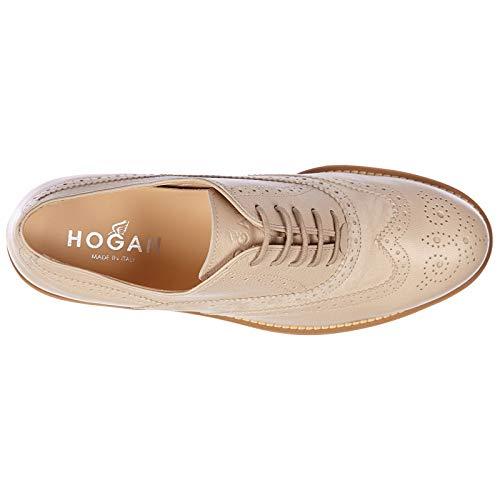 Hogan h259 Stringate Route Donna Brogue Beige Classiche Nuove in Scarpe Pelle BqB1p0r