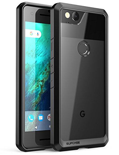 SUPCASE Unicorn Beetle Series Case Designed for Premium Google Pixel 2, Hybrid Protective Clear Case for Google Pixel 2 2017 Release (Frost/Black)